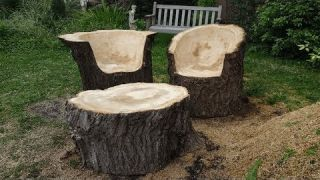 How To Make Chainsaw Carving A Chair, Techniques Wood Cutting Woodworking Carpenters Dexterity